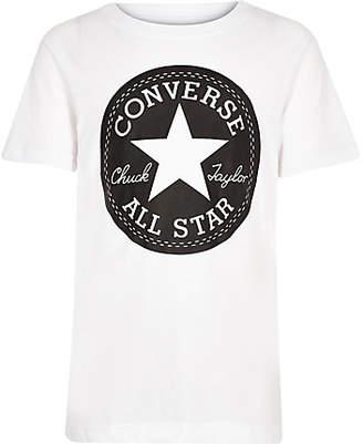 daa960b4aca8 Converse Boys White logo print T-shirt