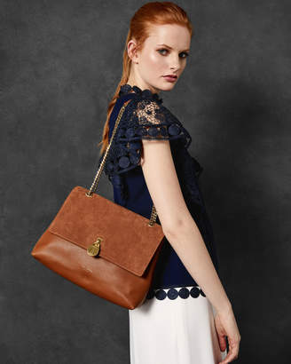 Ted Baker HERMIAA Suede padlock shoulder bag