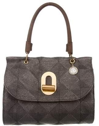 Lanvin Metallic Turnlock Handle Bag