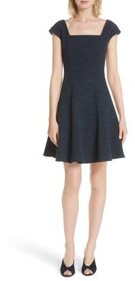 Rebecca Taylor Tweed Fit & Flare Dress