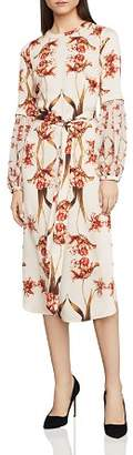 BCBGMAXAZRIA Tulip Print Balloon-Sleeve Shift Dress