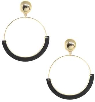 Ettika Gold Wire & Resin Hoop Earrings