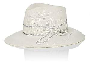 Jennifer Ouellette Women's Paper Straw Fedora - Cream