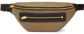 Tom Ford Leather-Trimmed Canvas Belt Bag