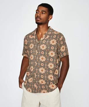 rhythm Baja Short Sleeve Shirt Teal
