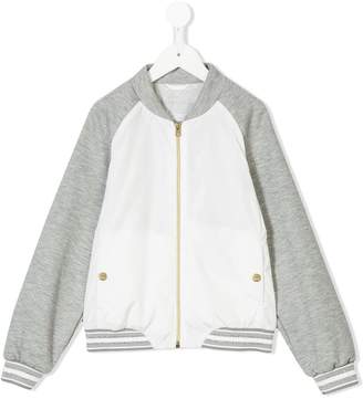 Herno Kids two-tone zipped jacket