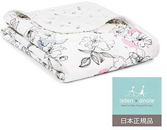 Aden Anais (エイデン アネイ) - aden + anais (エイデンアンドアネイ) 【日本正規品】 シルキーソフト ミニ・ドリーム・ブランケットmeadowlark silky soft mini dream blanket grace/seed-9352