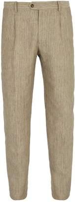 ÉDITIONS M.R Francois striped linen trousers