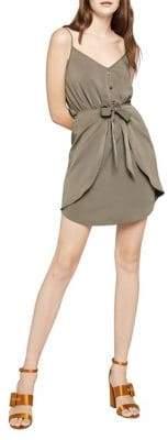 BCBGeneration Front-Tie Shirred Dress