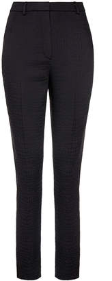 J. Lindeberg Rhonda Black High-Waisted Croc Print Skinny Trouser