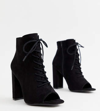 18cf257e21 Lace Up Block Heel Boots - ShopStyle