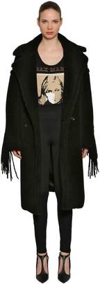 Max Mara Double Breasted Fringed Fur Coat