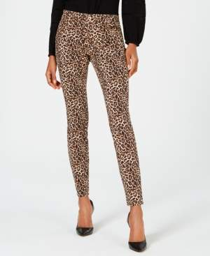 INC International Concepts I.n.c. INCEssential Leopard Skinny Jeans, Created for Macy's