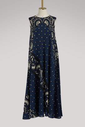 RED Valentino Bandana print sleeveless long dress