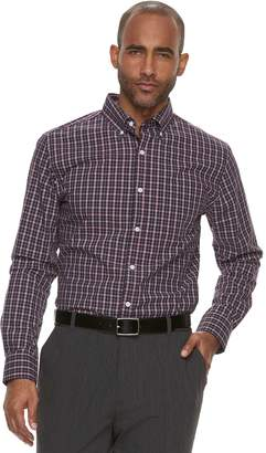 Croft & Barrow Men's Classic-Fit Plaid Easy-Care Button-Down Shirt