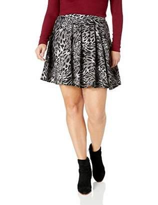 Star Vixen Women's Plus Size Full Short Ponte Knit Skater Skirt