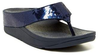 FitFlop Ringer Sequined Wedge Flip Flop