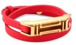 Tory Burch x Fitbit Double-Wrap Leather Bracelet