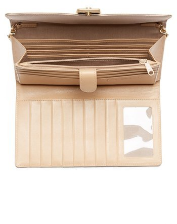 Halogen Saffiano Leather Crossbody Clutch Wallet