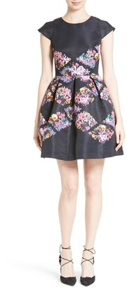 Women's Ted Baker London Lost Gardens Diamond Skater Dress $335 thestylecure.com