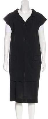 Dolce & Gabbana Virgin Wool Knee-Length Skirt Set