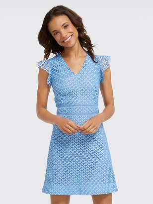 Draper James Gingham Lattice Sleeveless Dress