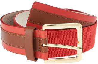 Isaac Mizrahi Live! Colorblock Leather Stretch Waist Belt