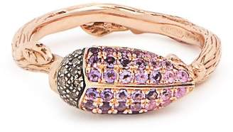 Bibi Van Der Velden - Scarab Rose Gold Ring - Womens - Purple