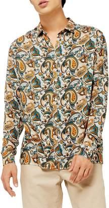 Topman Classic Fit Floral Paisley Button-Up Sport Shirt