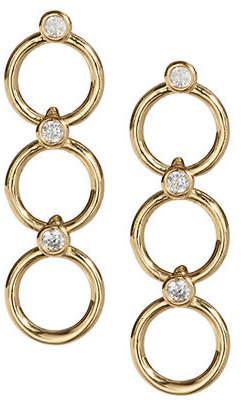 Kate Spade Chain Reaction Crystal Link Drop Earrings