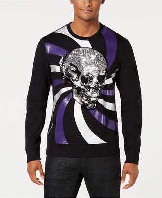 INC International Concepts I.N.C. Men's Long-Sleeve Skull Graphic T-Shirt, Created for Macy's