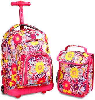 J World Lollipop Wheeled Backpack & Lunch Bag Set