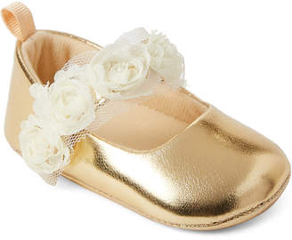 Baby Essentials Stepping Stones (Infant Girls) Gold Rose Mary Jane Shoes