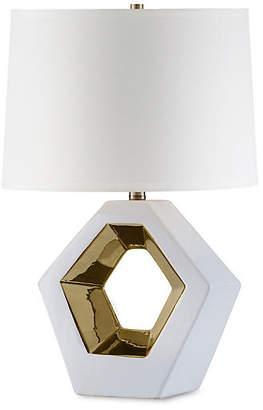 Nova Lamps Zone Reclining Table Lamp - Bone White/Gold