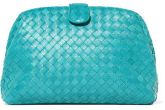 Bottega Veneta Lauren Intrecciato Leather Clutch Turquoise