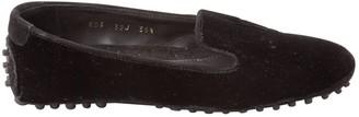 Car Shoe Black Velvet Flats