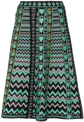 M Missoni jacquard knit a-line skirt