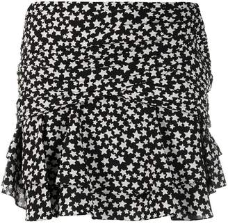 Saint Laurent star print mini skirt