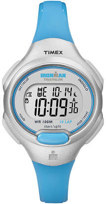 Timex Ironman Womens Blue Resin Strap Chronograph Sport Watch T5K739