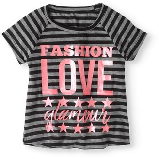 Pink Velvet Girls' Raglan Sleeve Foil Graphic Tee