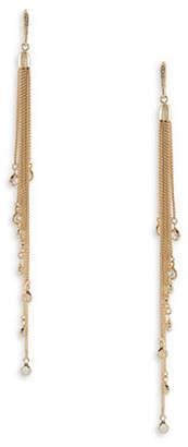 ABS by Allen Schwartz Crystal Chain Drop Earrings
