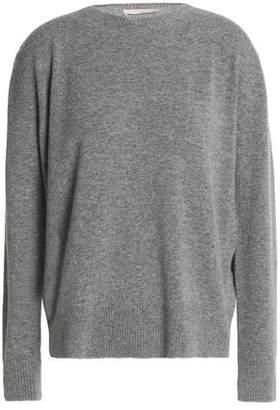Christopher Kane Metallic-Trimmed Mélange Wool-Blend Sweater