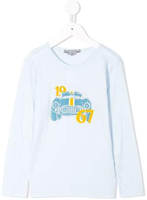 Bonpoint car print long sleeved T-shirt