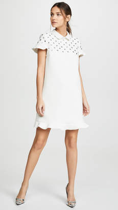 RED Valentino Embellished Collar Shirtdress