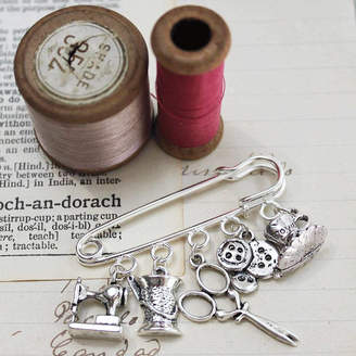 Zamsoe Personalised Make Do And Mend Brooch