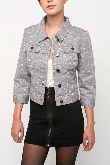 Kimchi Blue Floral Denim Jacket