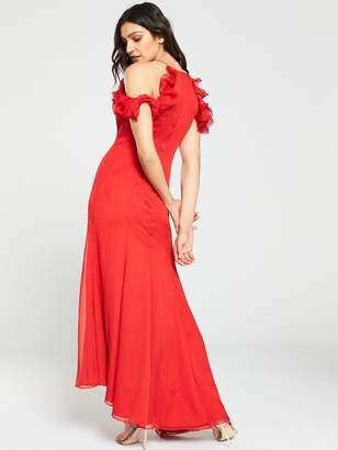 Keepsake Embrace Ruffle Top Gown - Red