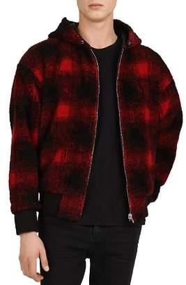 The Kooples Checked Sweatshirt-Style Jacket