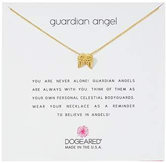 Dogeared Guardian Angel Dipped Sterling Silver Angel Wings Charm Pendant Necklace