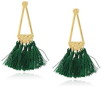 Rebecca Minkoff Geo Tassel Chandeliers Gold/Multi Tassels Drop Earrings